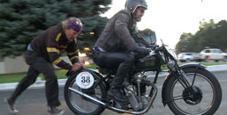 1928 Velocette Motorcycle Cannonball